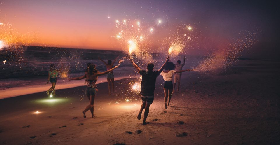 Sparklers at Coles Point Marina | Post 4th of July Marina Festivities | Snag-A-Slip