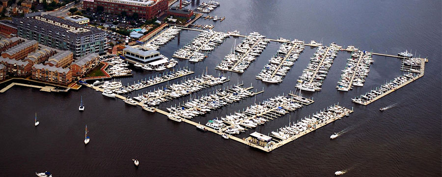 Lighthouse Point Marina Aerial | Canton Waterfront Park | Snag-A-Slip