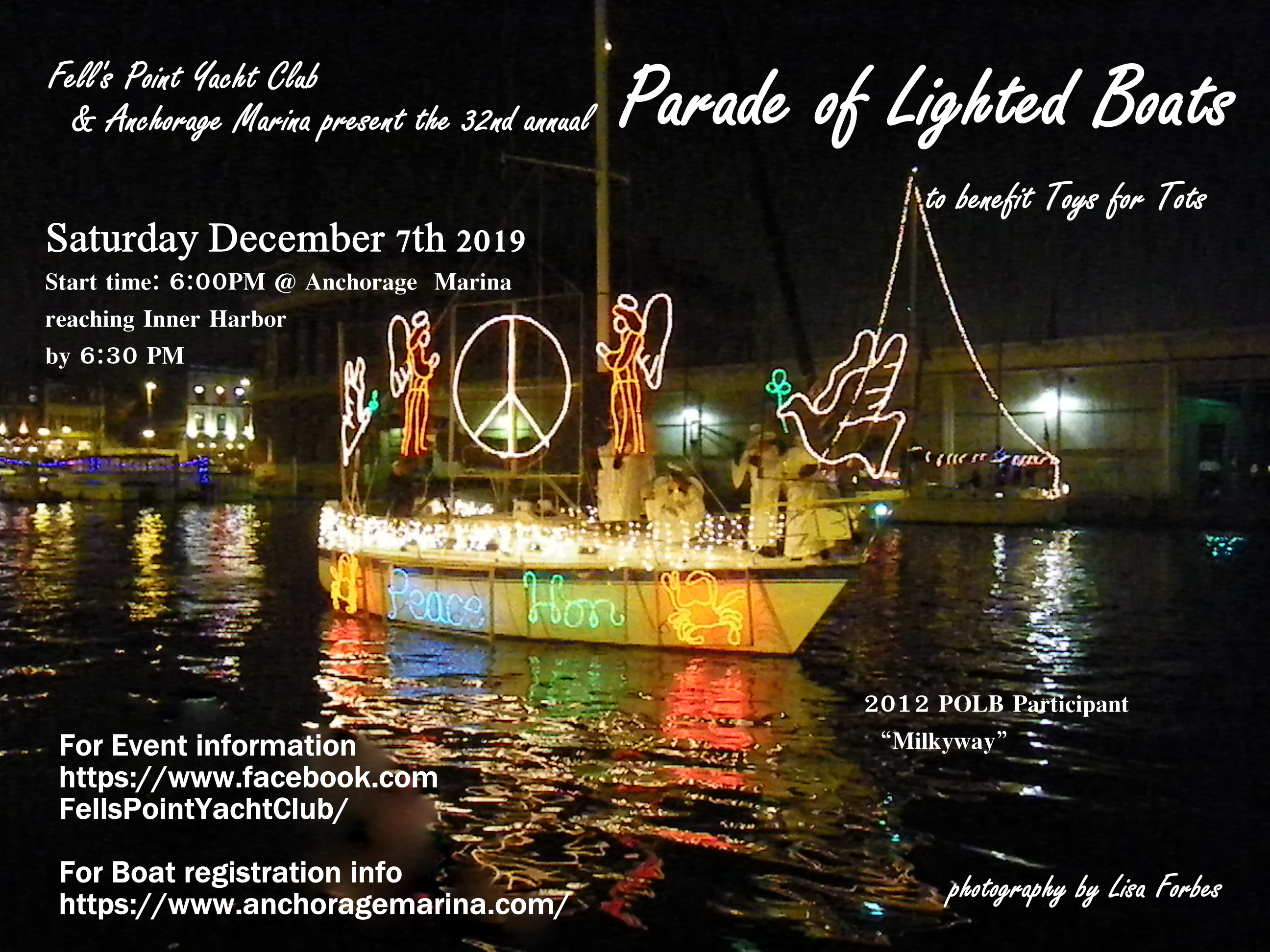 Baltimore Parade of Lighted Boats | Lighted Boat Parades | Snag-A-Slip