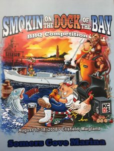 Smokin On The Dock Of the Bay BBQ Competition Flyer at Somers Cove Marina Crisfield