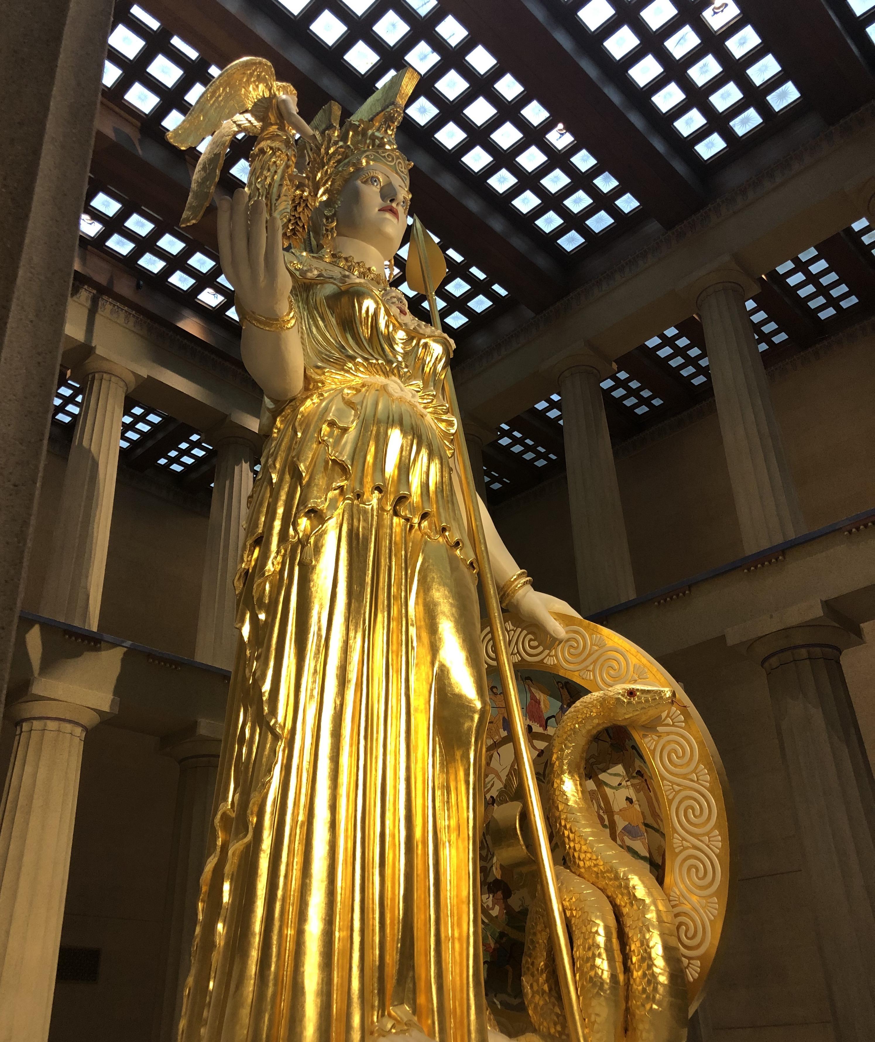 Athena Statue in the Parthenon | Nashville | Snag-A-Slip