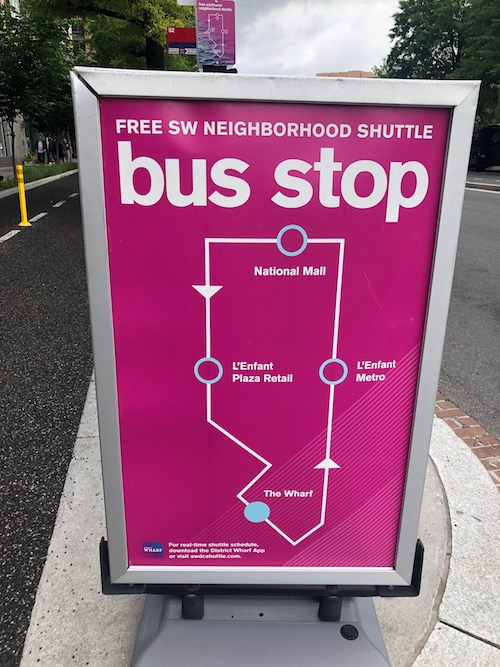 Bus Routes | The Wharf Washington DC | Snag-A-Slip