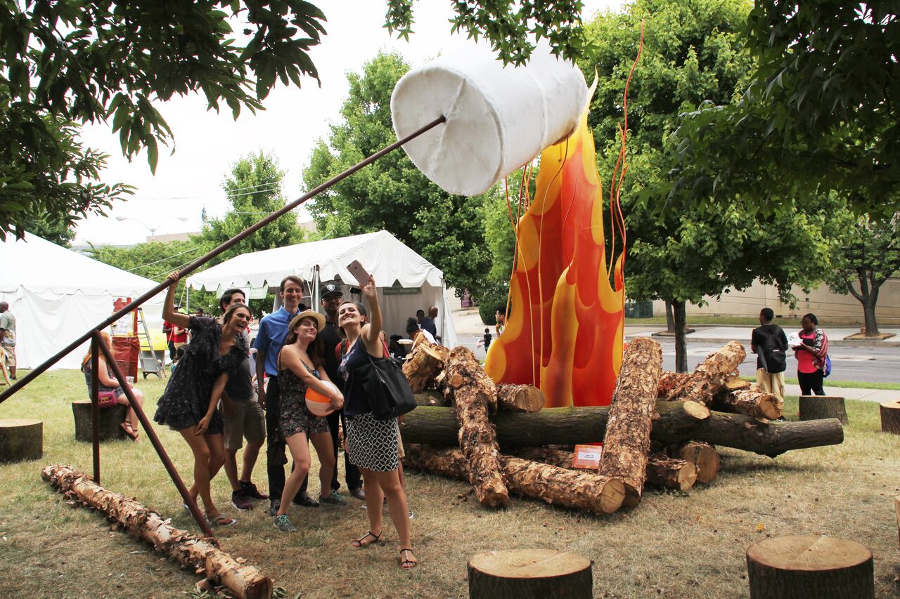 Let's Build A Big Campfire - Photo courtesy of the Baltimore Office of Promotion & The Arts