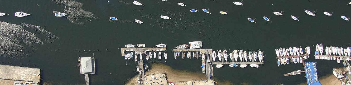 Miramar Aerial Photo of docks | New Marinas Added | Snag-A-Slip