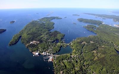 Ocean Point Docks Aerial | Boothbay, Maine | Snag-A-Slip