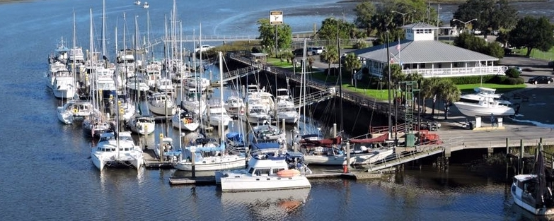 Savannah Bend Marina Birds Eye | ICW Georgia Marinas | Snag-A-Slip