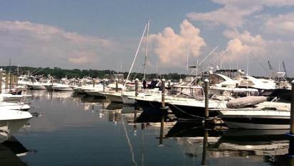 Beautiful sky over Port Niantic Inc. Docks | Long Island Sound Marinas | Snag-A-Slip