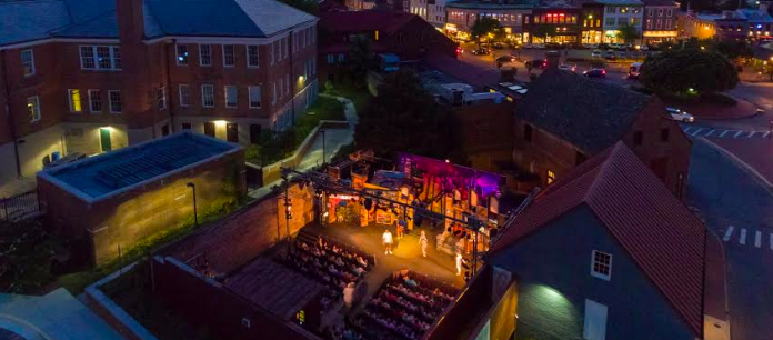 Aerial of Venue at Night | Annapolis Summer Garden Theatre | Snag-A-Slip