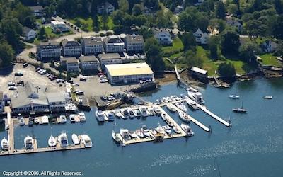 Carousel Marina Aerial | Boothbay, Maine | Snag-A-Slip