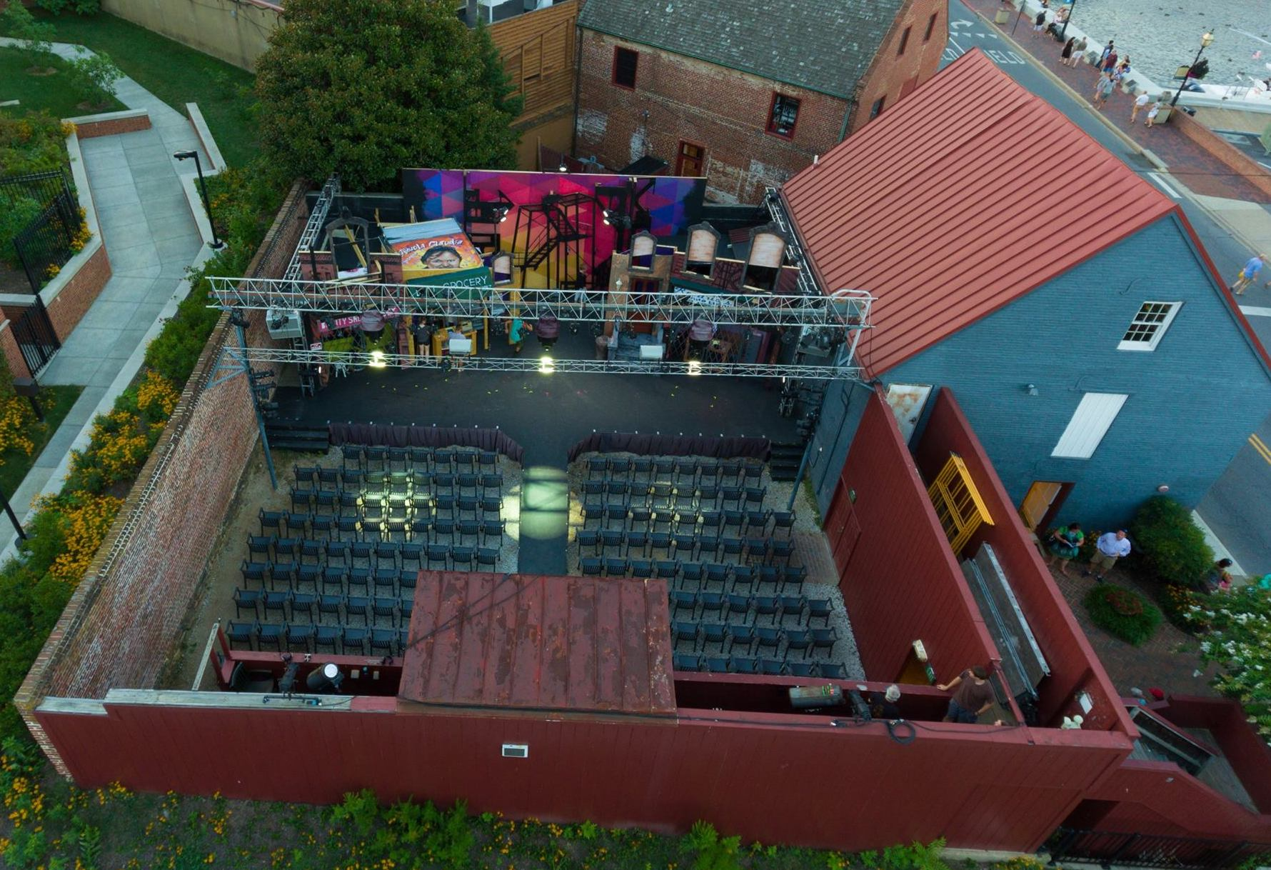 Aerial of Venue | Annapolis Summer Garden Theatre | Snag-A-Slip