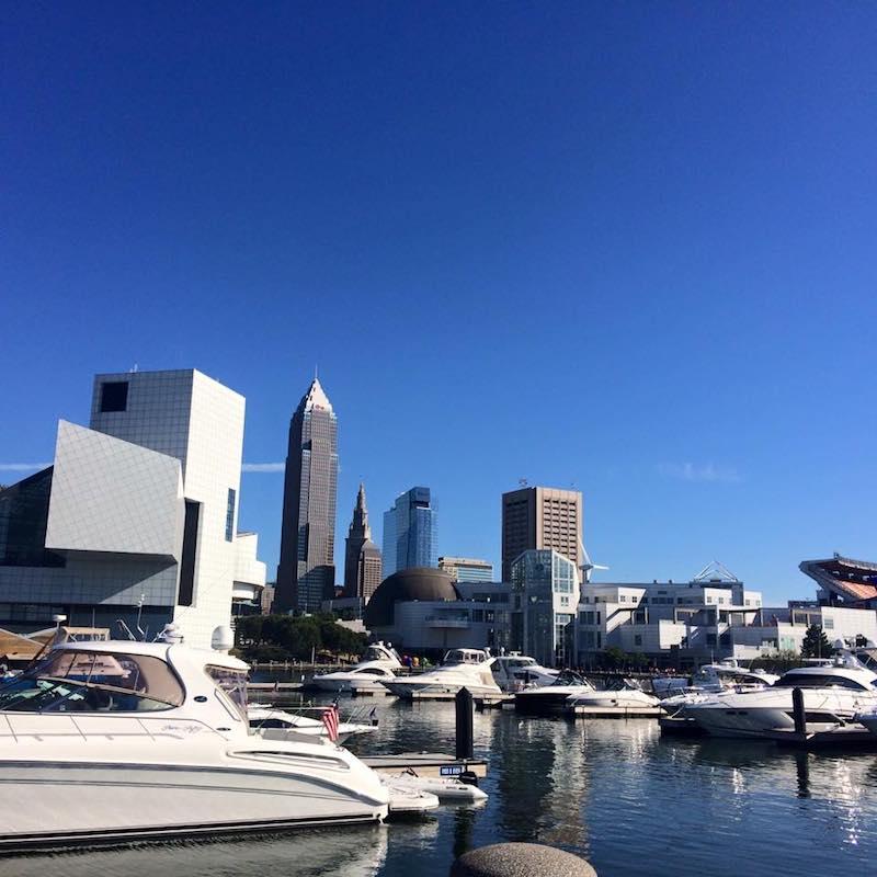 Oasis Marinas at North Coast boats and view of Cleveland | New Marinas Added | Snag-A-Slip