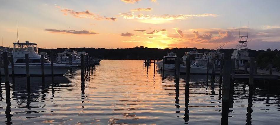 Mystic River Marina Sunset | Long Island Sound Marinas | Snag-A-Slip