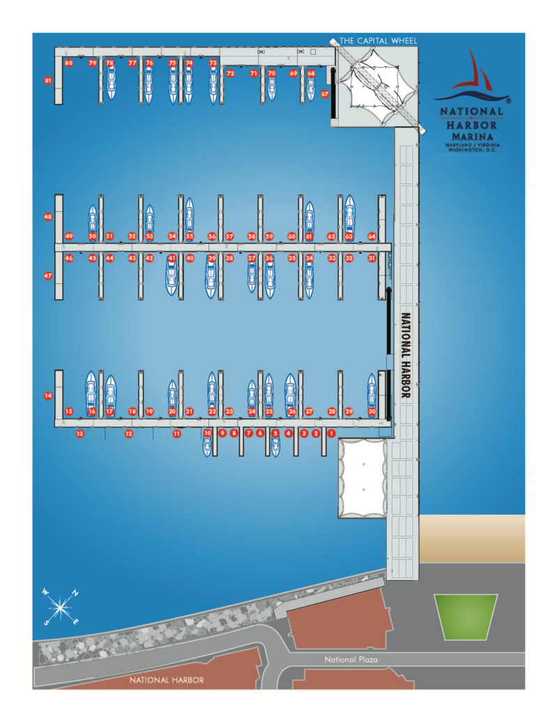 National Harbor Marina slip map
