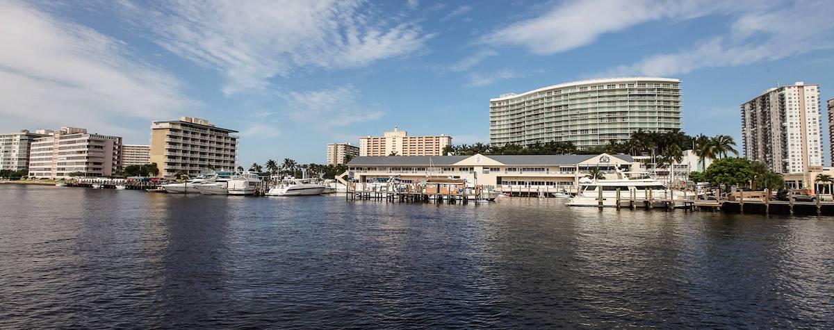 Sands Harbor Resort & Marina docks and city | New Marinas Added | Snag-A-Slip