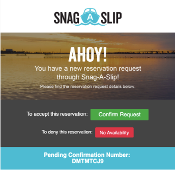 Reservation Request Systems   Snag-A-Slip Updates
