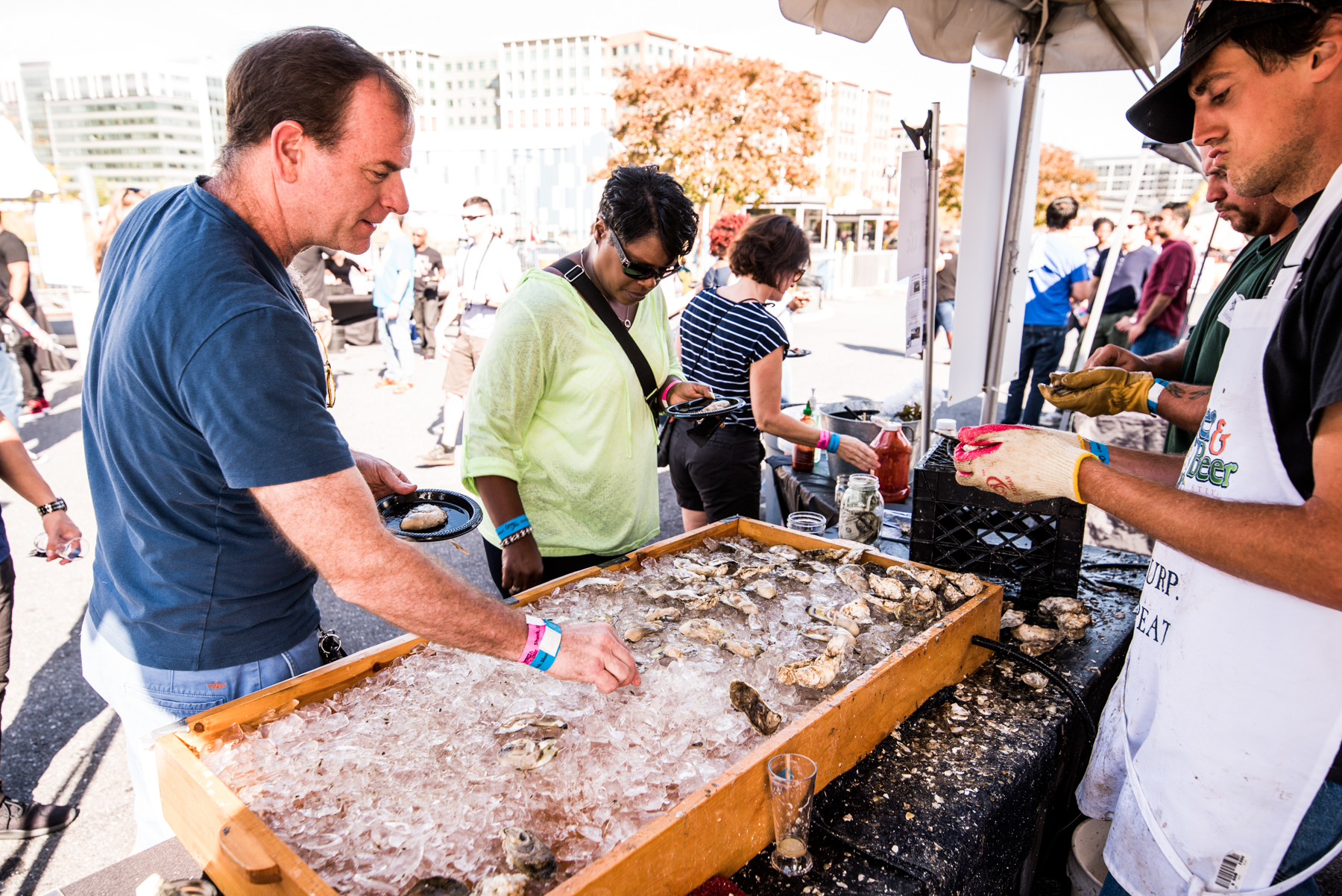 Seafood Booth | The National Harbor Wine & Food Festival | Snag-A-Slip